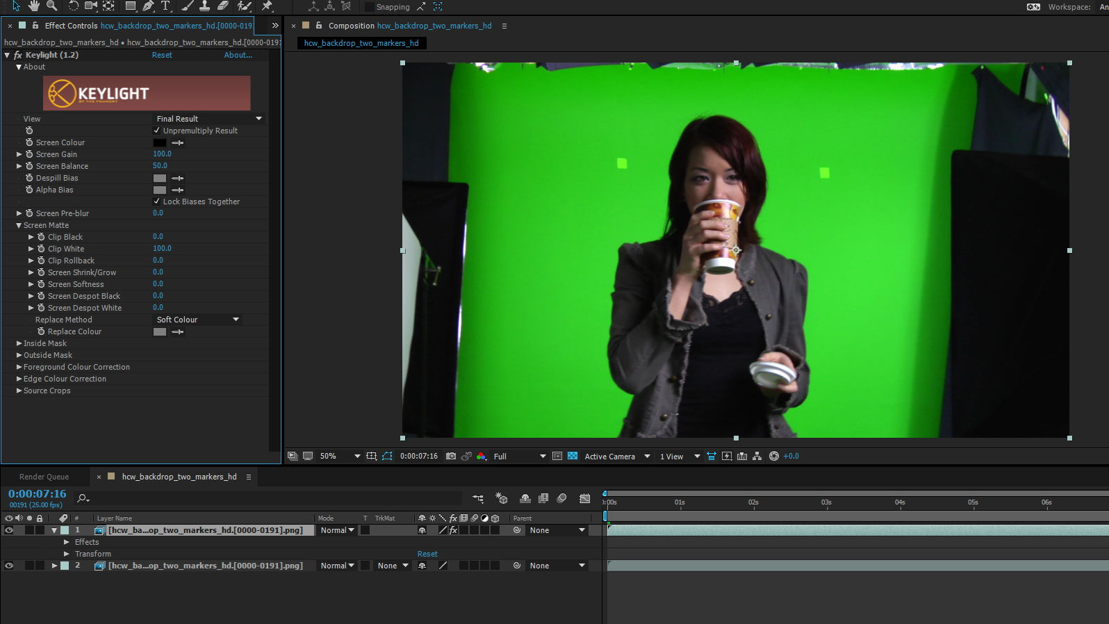 Green Screen Keying 1