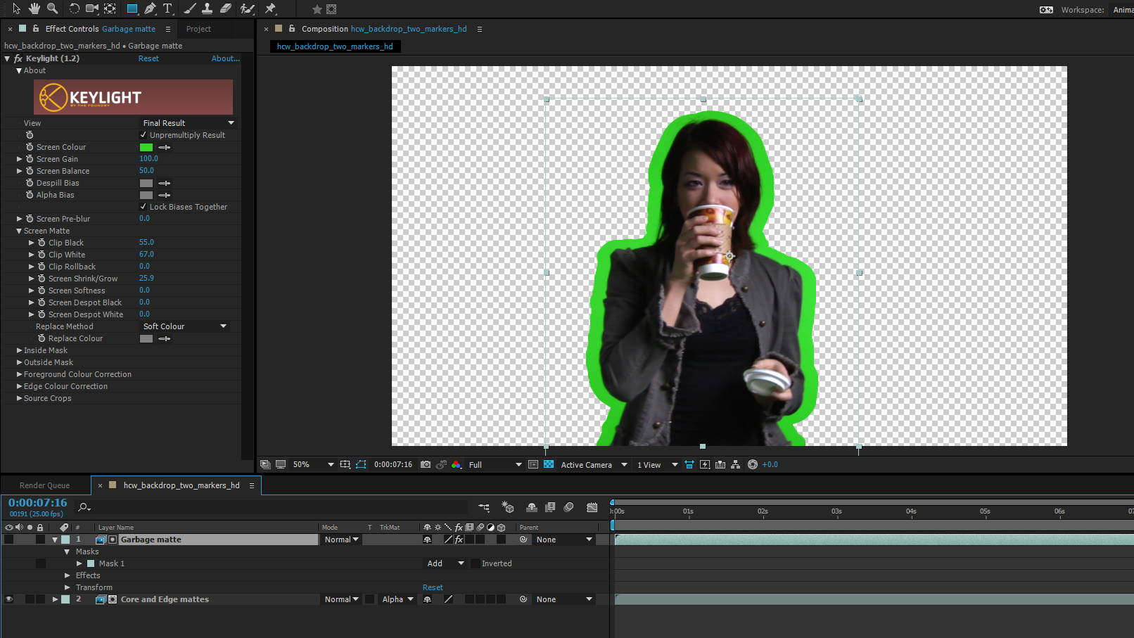 Green Screen Keying 3